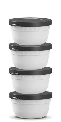 430 ml stabelbar skål - genanvendelig