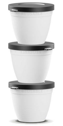 580 ml stabelbar skål - genanvendelig